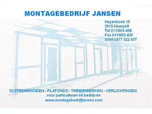 Montage Bedrijf Jansen